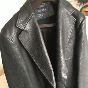Vintage Gucci Black Leather Jacket for men